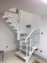 阳台护栏双层钢板玻璃扶手弧形楼梯图片