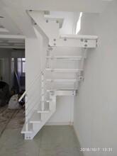阁楼楼梯不锈钢复合管护栏立柱图片
