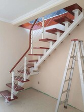 玻璃楼梯实木楼梯15步要多少钱图片