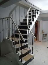 楼梯护栏铝艺护栏立柱图片