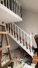 护栏钢木楼梯生产厂家钢木楼梯定制图片