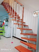 弧形别墅弧形扶手款式楼梯护栏图片