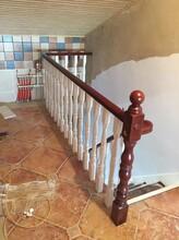 楼梯护栏阁楼复试装修安装楼梯-实木楼梯图片
