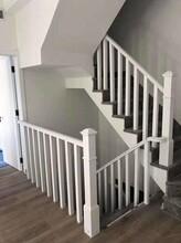 弧形钢木楼梯价格图片