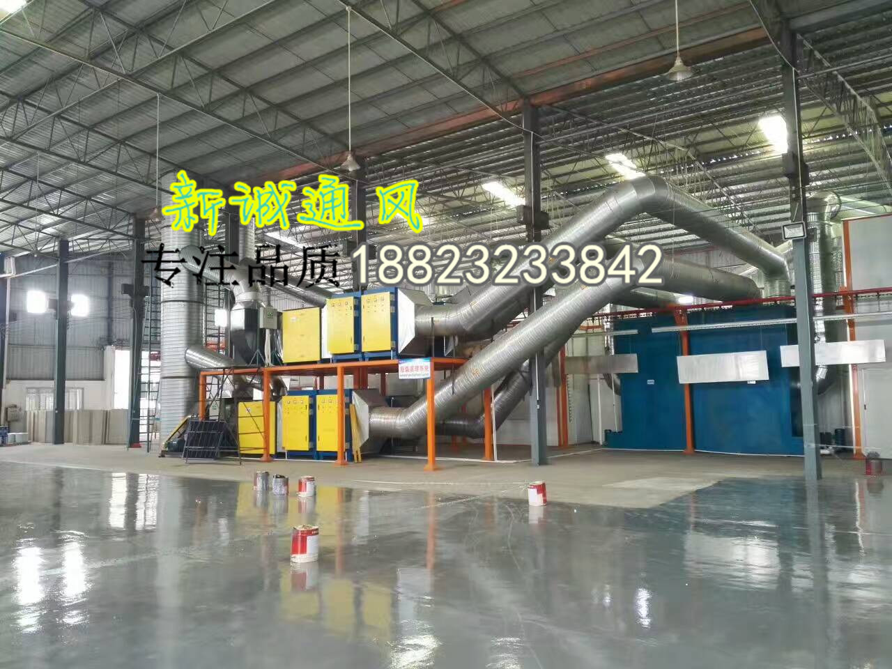 螺旋风管工程施工专家承接各种排风管道-新诚厂家