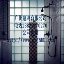 酸蒙霧面直透紋玻璃磚玻璃磚蒙砂適合衛生間隔斷墻透光圖片