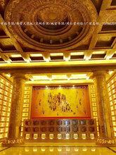 寺庙吊顶佛堂天花板宗祠地宫中式装修装饰古建筑彩绘图片