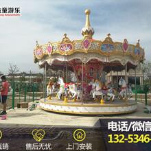 公园豪华转马游乐器材图片