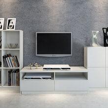 广州工厂团购直销实木电视柜影视柜视听柜边柜矮柜地柜多功能收纳柜图片