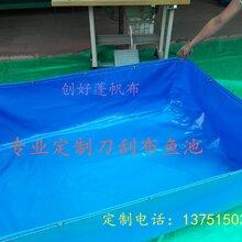 任意尺寸定做刀刮布帆布水池泳池养殖帆布鱼池锦鲤池种大型植蓄水池图片