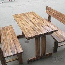 实木火锅桌椅,火烧木快餐桌椅厂家