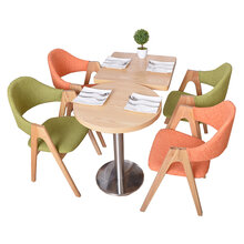 美式实木火锅桌椅,火烧木快餐桌椅厂家