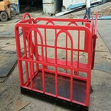 濟寧廠家銷售高空作業吊籃吊車專用吊籃安全護欄圖片