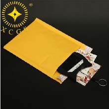 汕头厂家供应黄色牛皮纸气泡信封袋邮寄快递防震袋