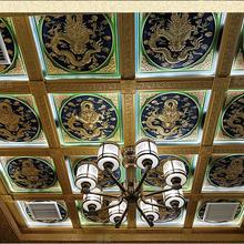 寺庙彩绘吊顶佛堂天花板古建吊顶装修材料图片