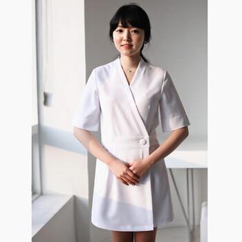 厂家直销美容师工作服纹绣师工装前台订做LOGO