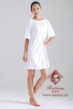 廠家直銷美容院客人用高檔純棉浴裙家居睡衣可訂制圖片
