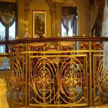 金筑达别墅铝艺雕花楼梯护栏专业定制高级镂空铝雕扶手栏杆