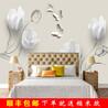 简约现代客厅电视背景墙布欧式郁金香蝴蝶墙纸3d立体个性创意壁画