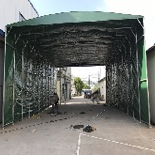 热销推拉棚仓库推拉棚户外移动帐棚活动篷雨棚膜结构车棚厂家图片