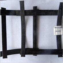 新品直銷高強度鋼塑土工格柵黑色雙向鋼塑土工格柵質量可靠圖片