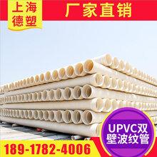 上海廠家供應UPVC雙壁波紋管大口徑雙壁波紋管圖片