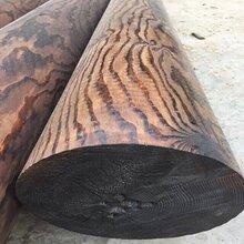 园林碳化木板材供应商上海碳化木圆柱价格