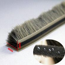 厂家直销建筑工程门窗挡风防尘毛条5x8MM920米/箱灰色硅化防水毛条图片