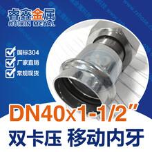 湖南不锈钢直通DN323215异径直通批发不锈钢管件厂图片