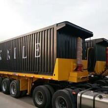 平板自卸后翻半挂运输车厂家订做送挂
