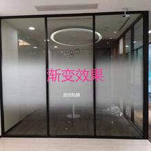 广州专业玻璃贴膜办公室磨砂膜logo上门安装-益创玻璃贴膜哦你公司图片