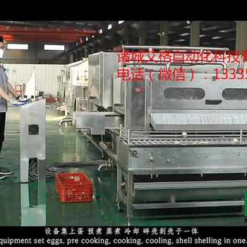 供應艾格ABK-20000雞蛋蒸煮剝殼生產線/雞蛋剝殼線
