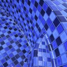泳池馬賽克瓷磚廠專業制造馬賽克泳池磚圖片