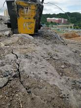 石方拆除低成本静态劈裂机撑裂石头设备图片
