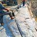 濟南市山上修路石頭分裂開采設備現場調試