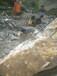 地基基坑靠近村莊無噪音采石分裂機