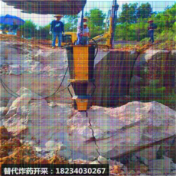 代替人工分石頭開采方法巖石分裂機