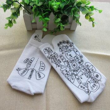 跨境外貿產品批發穴位二指襪純棉二指穴位襪價格