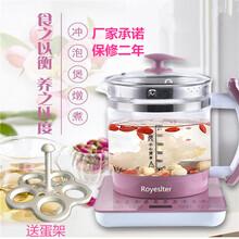 榮事達多功能加厚玻璃電水壺煮茶壺煎藥壺嬰兒泡奶智能廠家直銷圖片