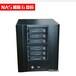 NAS迷你机箱服务器机箱6个热插拔硬盘位ITX主板位NAS高档铝面板