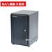 NAS机箱8盘位热插拔机箱nas服务器机箱门板带锁MINIITX主板位黑色