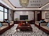 山西紫苹果装饰龙湾写意147平米新中式风格装修案例