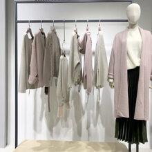 绵羊毛针织衫外套广州折扣女装时尚毛衣大气秋冬女装货源图片
