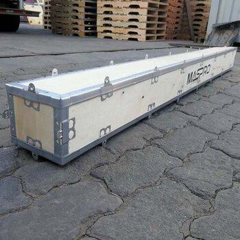 青島木制包裝箱圖片五金零配件裝貨用膠合板封閉木箱載重大