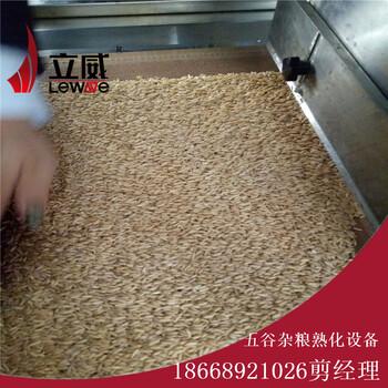 燕麦片微波烘干熟化设备