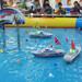 儿童方向盘遥控船大型游乐设备厂家水上游乐设备水上玩具遥控军舰