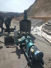 路基雙缸電動高壓注漿泵甘肅華亭礦用三缸水泥漿注漿機圖片