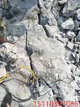 圖木舒克開挖石頭靜態裂石機劈開石頭分裂機循環使用圖片