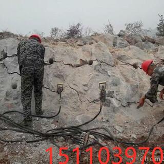 安徽滁州撑开石方快速裂开缝隙机器液压劈裂棒愚公斧怎么使用图片6