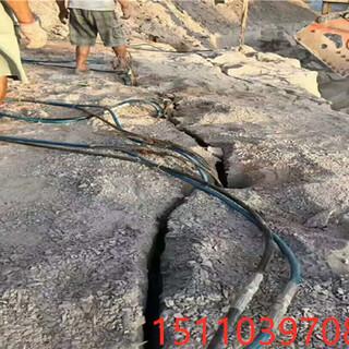 安徽滁州撑开石方快速裂开缝隙机器液压劈裂棒愚公斧怎么使用图片1